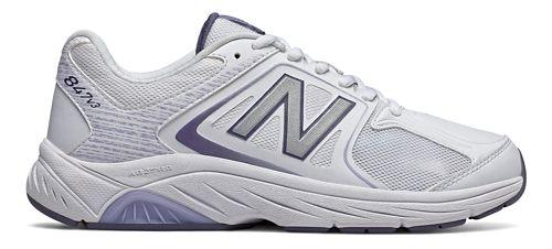 Womens New Balance 847v3 Walking Shoe - White/Grey 9.5