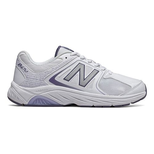 Womens New Balance 847v2 Walking Shoe - White/Grey 10.5