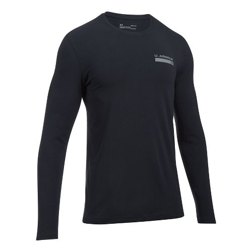 Mens Under Armour Back Graphic Long Sleeve Technical Tops - Black L