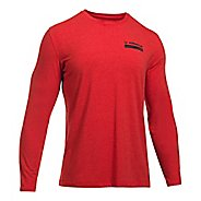 Mens Under Armour Back Graphic Long Sleeve Technical Tops