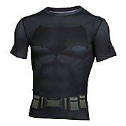 Mens Under Armour Batman Suit Short Sleeve Technical Tops
