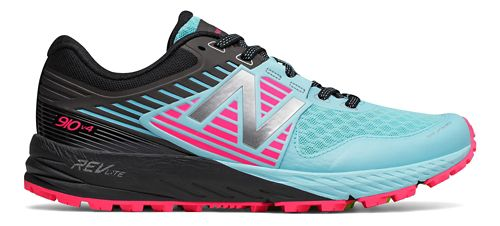 Womens New Balance 910v4 Trail Running Shoe - Sea/Pink 11
