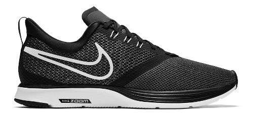 Mens Nike Zoom Strike Running Shoe - Black/White 9.5