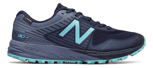 Womens New Balance 910v4 GTX Trail Running Shoe - Pigment/Blue 5