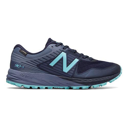 Womens New Balance 910v4 GTX Trail Running Shoe - Pigment/Blue 10