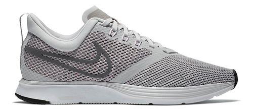 Womens Nike Zoom Strike Running Shoe - Light Grey 7.5