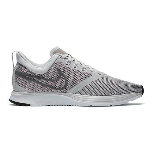 Womens Nike Zoom Strike Running Shoe - Light Grey 10