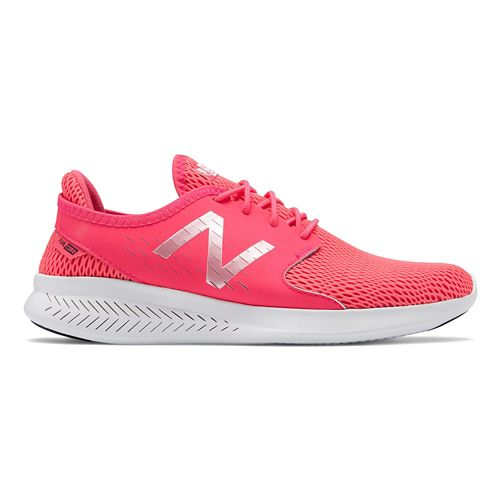 Womens New Balance Coast v3 Running Shoe - Pink/White 7.5