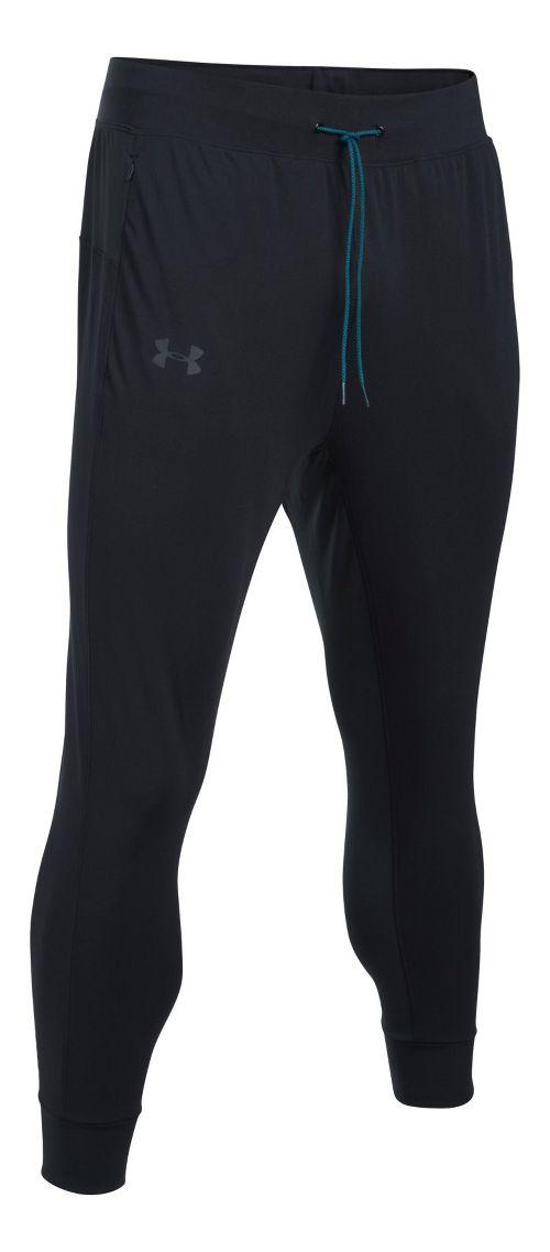 Mens Under Armour ColdGear Reactor Crewser Jogger Crop Pants - Black/Black M