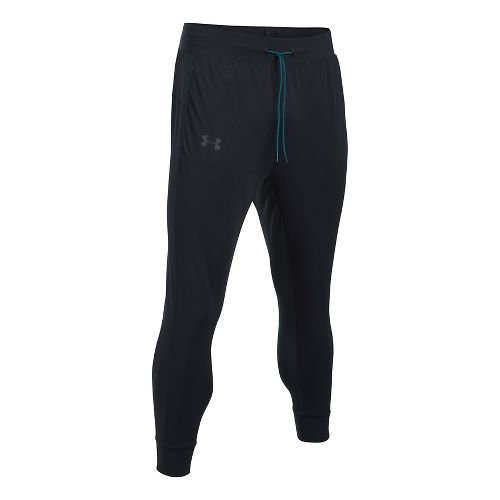 Mens Under Armour ColdGear Reactor Crewser Jogger Crop Pants - Black/Black L