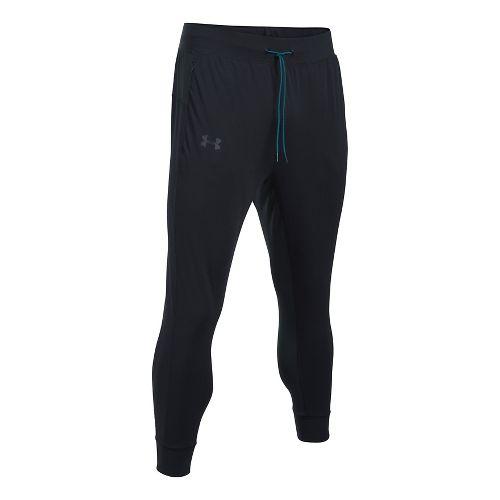 Mens Under Armour ColdGear Reactor Crewser Jogger Crop Pants - Black/Black XL
