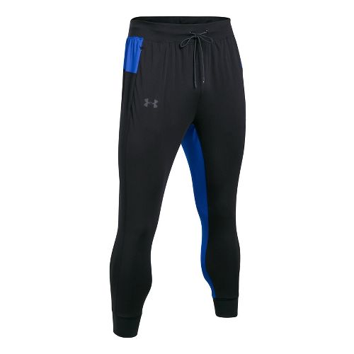 Mens Under Armour ColdGear Reactor Crewser Jogger Crop Pants - Black/Blue L
