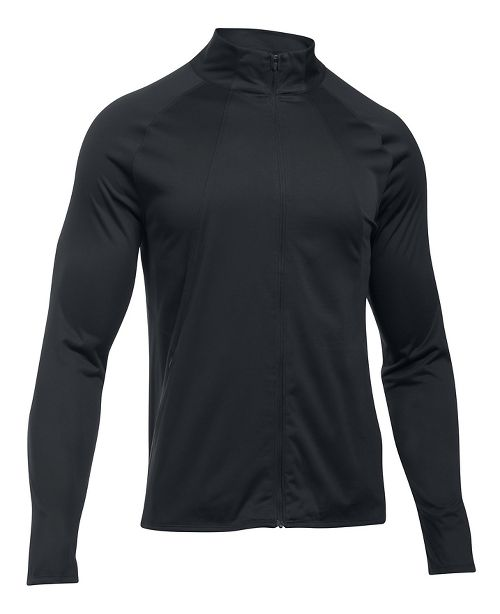Mens Under Armour ColdGear Reactor Storm Pace Running Jackets - Black/Black XL