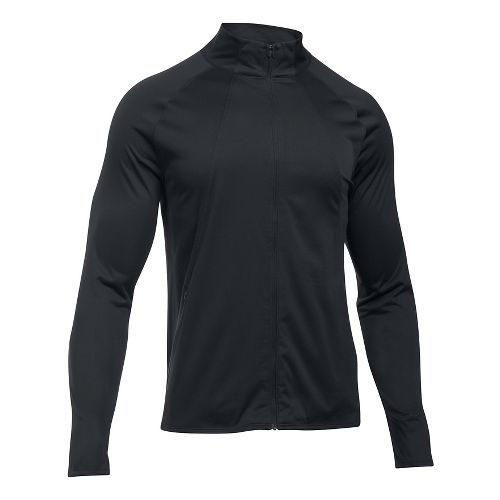 Mens Under Armour ColdGear Reactor Storm Pace Running Jackets - Black/Black S