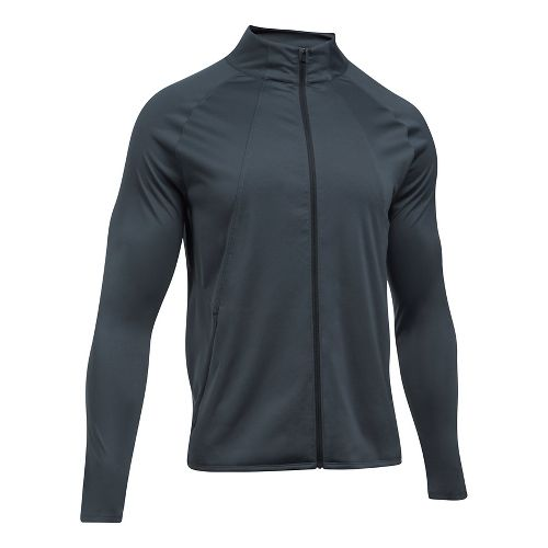Mens Under Armour ColdGear Reactor Storm Pace Running Jackets - Stealth Grey/Black M
