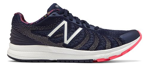 Womens New Balance Rush v3 Running Shoe - Navy/Pink 7.5