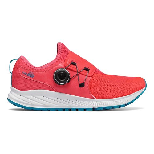 Womens New Balance Sonic v1 Running Shoe - Coral/White/Blue 11