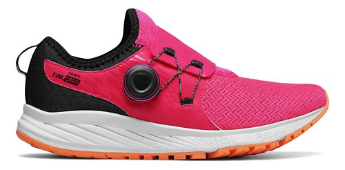 Womens New Balance Sonic v1 Running Shoe - Pink/Black 8.5