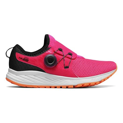 Womens New Balance Sonic v1 Running Shoe - Pink/Black 7.5
