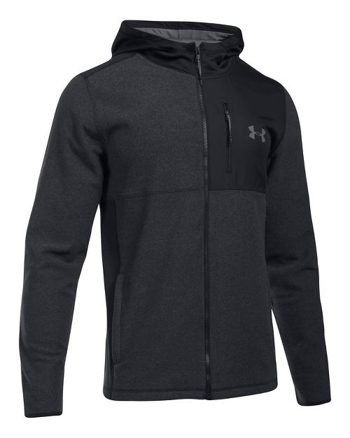 Mens Under Armour CGI Full-Zip Hood Half-Zips & Hoodies Technical Tops - Black 3XL