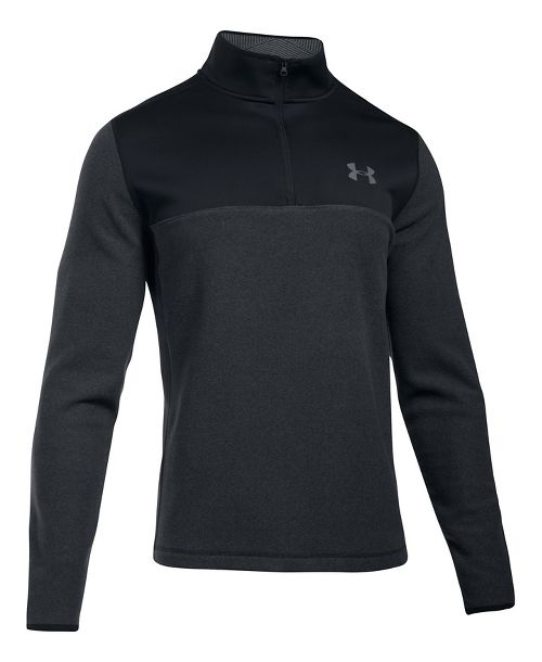 Mens Under Armour CGI Survivor 1/4 Zip Half-Zips & Hoodies Technical Tops - Black 4XL-T