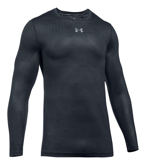 Mens Under Armour HeatGear CoolSwitch Long Sleeve Technical Tops - Anthracite 3XL