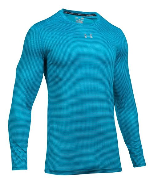 Mens Under Armour HeatGear CoolSwitch Long Sleeve Technical Tops - Blue Shift S