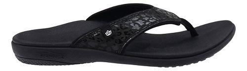 Womens Spenco Cheetah Print Sandals Shoe - Black 10