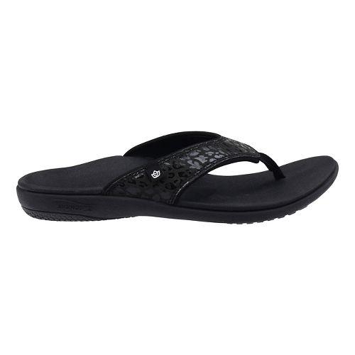 Womens Spenco Cheetah Print Sandals Shoe - Black 7
