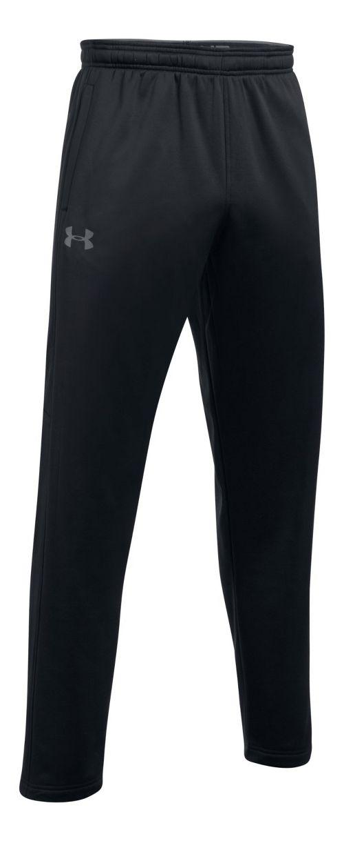 Mens Under Armour Fleece LW Pants - Black L