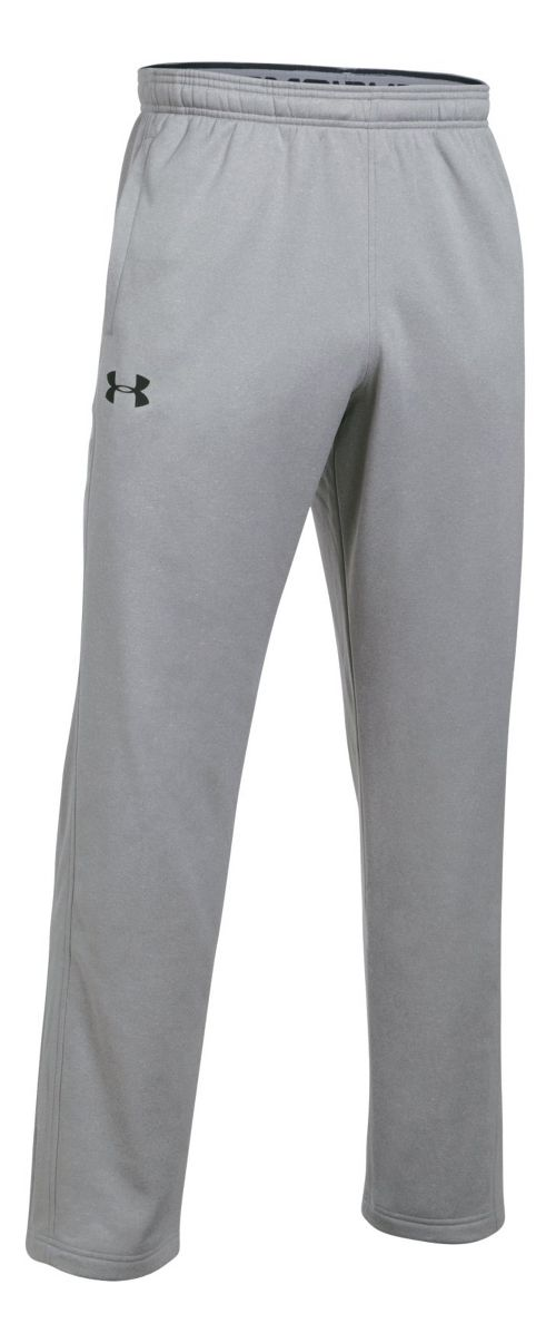 Mens Under Armour Fleece LW Pants - True Grey Heather L-T
