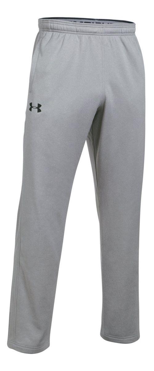 Mens Under Armour Fleece LW Pants - True Grey Heather S
