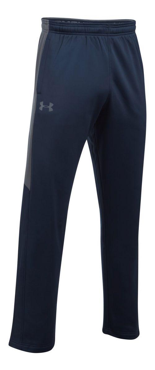 Mens Under Armour Fleece LW Pants - Midnight Navy/Grey 3XL