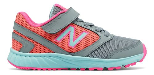 Kids New Balance 455v1 Running Shoe - Grey/Pink 5.5Y