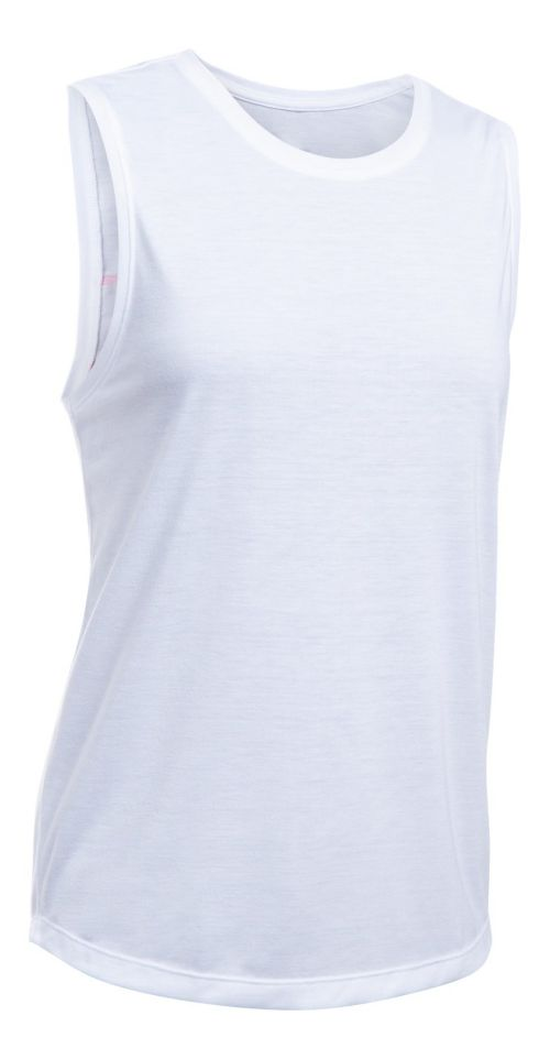Womens Under Armour 5280 Muscle Sleeveless & Tank Tops Technical Tops - White/Red XL