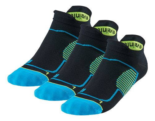 R-Gear Unstoppable Thin No Show Tab 3 pack Socks - Black/Blue/Yellow S