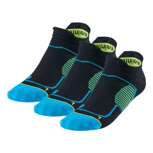 R-Gear Unstoppable Thin No Show Tab 3 pack Socks - Black/Blue/Yellow L