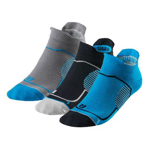 R-Gear Unstoppable Thin No Show Tab 3 pack Socks - Atomic Blue/Black M