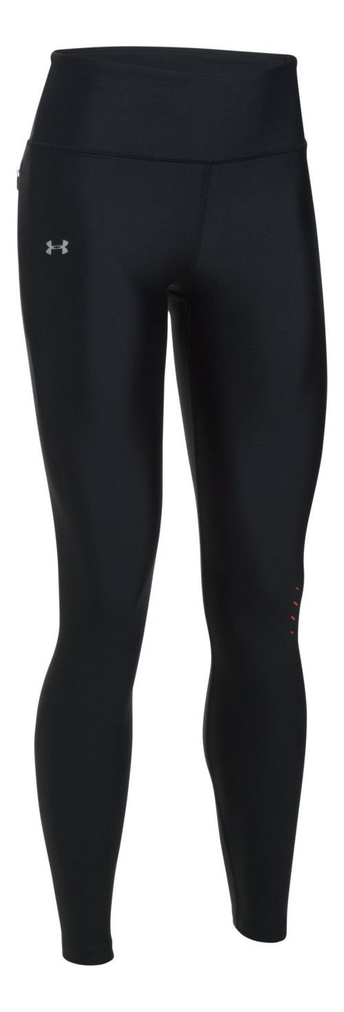 Womens Under Armour Accele-bolt Run Tights & Leggings Tights - Black/Red XS