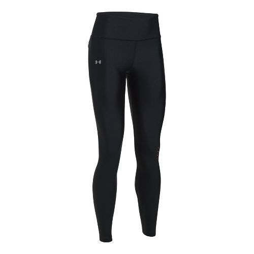 Womens Under Armour Accele-bolt Run Tights & Leggings Tights - Black/Red L