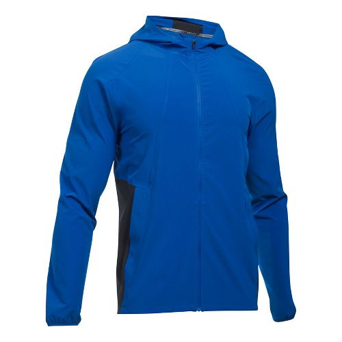 Mens Under Armour Outrun The Storm Running Jackets - Lapis Blue/Black XXL
