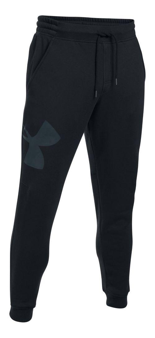 Mens Under Armour Rival Exploded Logo Jogger Pants - Black XL