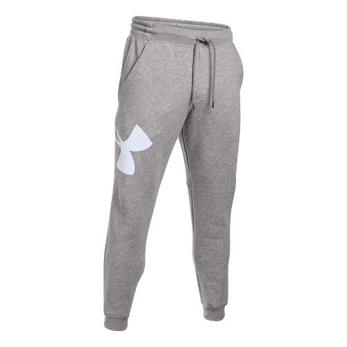 Mens Under Armour Rival Exploded Logo Jogger Pants - True Grey Heather L