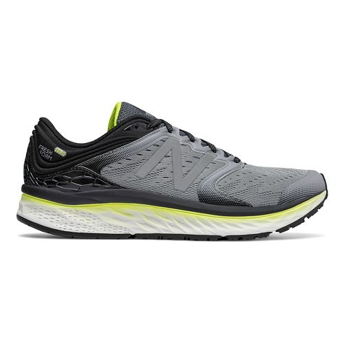Mens New Balance Fresh Foam 1080v8 Running Shoe - Grey/Yellow 11.5