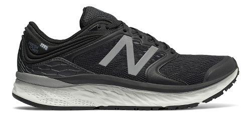 Mens New Balance Fresh Foam 1080v8 Running Shoe - Black/White 9.5