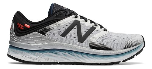 Mens New Balance Fresh Foam 1080v8 Running Shoe - White/Black 8.5