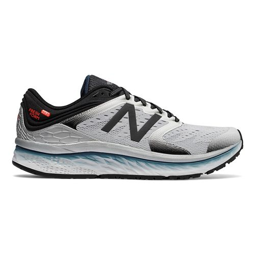 Mens New Balance Fresh Foam 1080v8 Running Shoe - White/Black 9.5