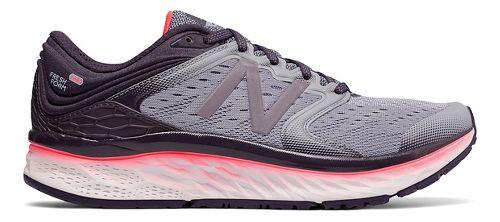 Womens New Balance Fresh Foam 1080v8 Running Shoe - Elderberry/Coral 8.5