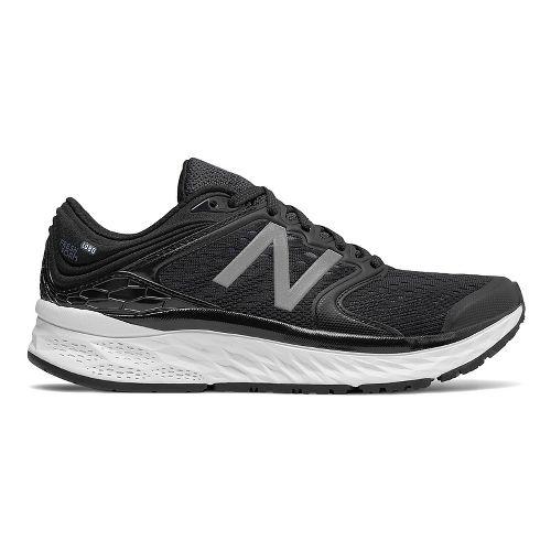 Womens New Balance Fresh Foam 1080v8 Running Shoe - Black/White 9.5