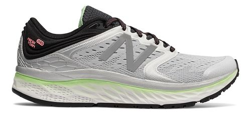 Womens New Balance Fresh Foam 1080v8 Running Shoe - White/Green 11.5